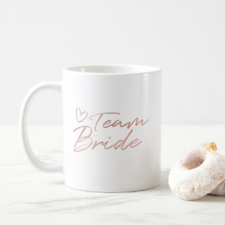 Noiva da equipe - o falso cor-de-rosa do ouro foil caneca de café