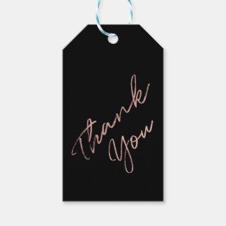 Noiva da equipe - o falso cor-de-rosa do ouro foil etiqueta para presente