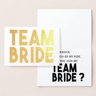 Noiva da equipe - você será meu cartão da dama de