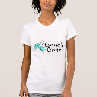 Noiva da praia (chinelos) camiseta