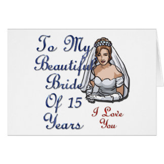 Noiva de 15 anos cartao