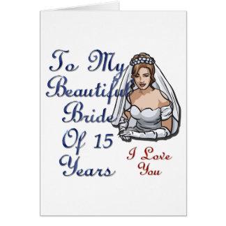 Noiva de 15 anos cartão comemorativo