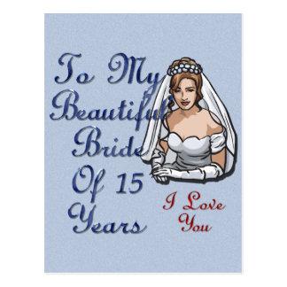 Noiva de 15 anos cartão postal