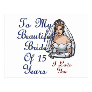 Noiva de 15 anos cartões postais