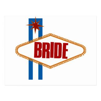 Noiva de Las Vegas Cartão Postal