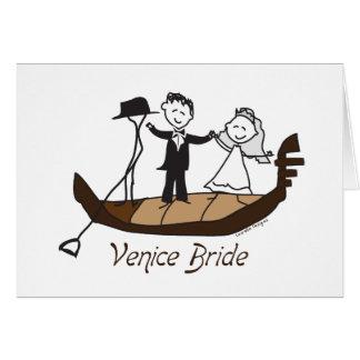 Noiva de Veneza Italia Cartao