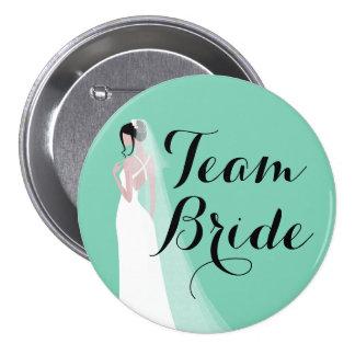 Noiva do Brunette da noiva da equipe Bóton Redondo 7.62cm