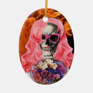 Noiva do inferno ornamento de cerâmica