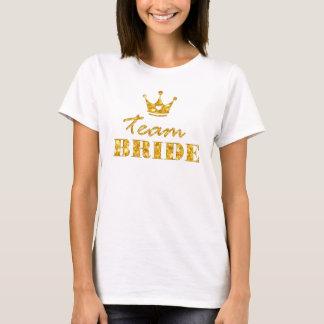 Noiva dourada da equipe do brilho camiseta