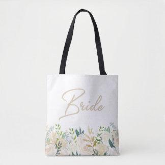 NOIVA floral do branco do bolsa do casamento