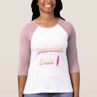 Noiva havaiana (prancha) camisetas