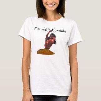 Noiva Honolulu Wedding havaiano Camiseta