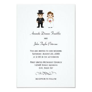 Noiva & noivo - convite do casamento 3x5