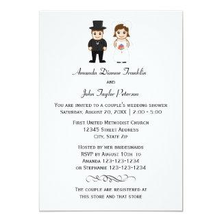 Noiva & noivo - convite do chá do casal