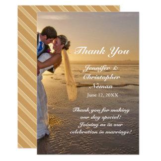 Noiva & noivo em cartões de agradecimentos da