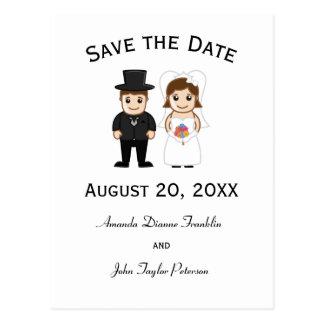 Noiva & noivo - salvar o cartão da data