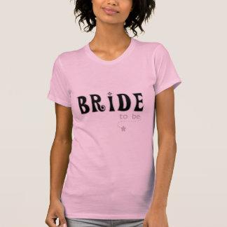 Noiva preta cinzenta a ser tshirts