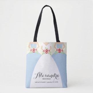 Noiva & seu bolsa da festa de casamento das damas