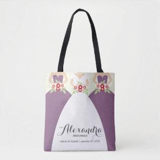 Noiva & seu bolsa roxo da festa de casamento das