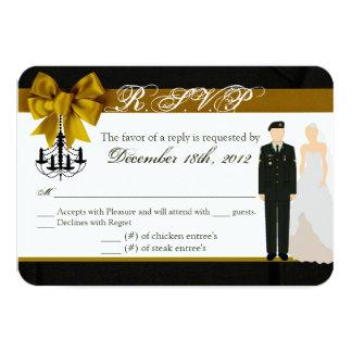 noiva uniforme do noivo do EXÉRCITO do cartão de