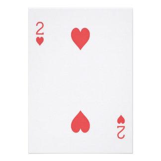 Noivado 2 do cartão de jogo Las Vegas dos corações Convite Personalizados