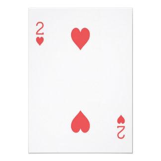Noivado 2 do cartão de jogo Las Vegas dos corações Convite 12.7 X 17.78cm