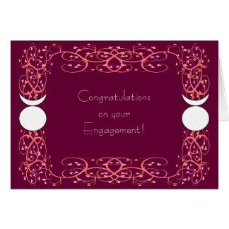 Noivado alegre Congrats de Wiccan do deus Horned Cartão Comemorativo