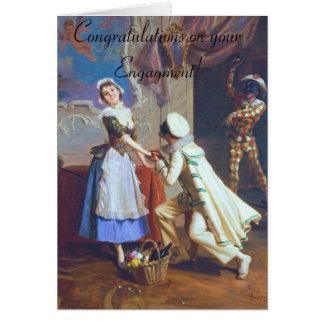 Noivado bonito do casal cartão comemorativo