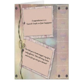 noivado cartão comemorativo