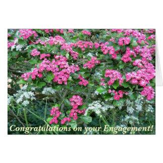 Noivado cor-de-rosa do Pagan do Hawthorn Cartão Comemorativo