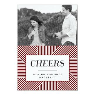 Noivado corajoso do feriado, cartão com fotos convite 8.89 x 12.7cm