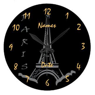 Noivado do aniversário de casamento customizável relógio para parede
