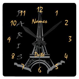 Noivado do aniversário de casamento customizável relógios de paredes