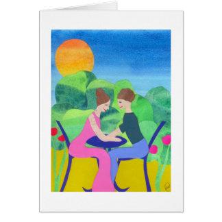 Noivado feliz cartão comemorativo