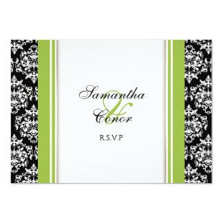 Noivado verde branco preto do casamento tema