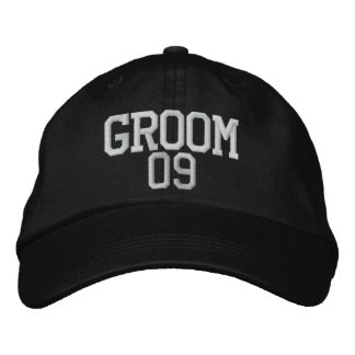 Noivo: Chapéu customizável do casamento 09 Boné Bordado