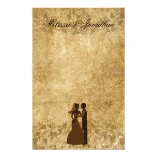 Noivo de papel da noiva do vintage que Wedding uma Papelaria