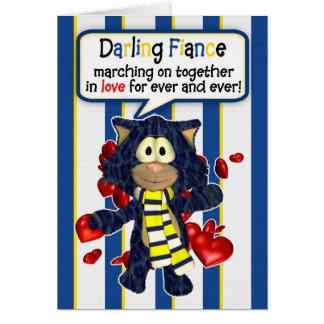 Noivo do cartão do dia dos namorados do fã de