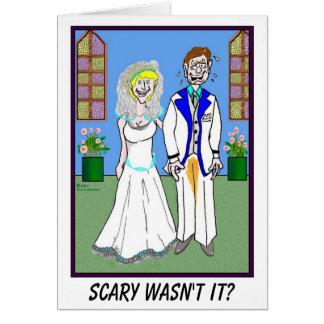NOIVO E cartão de casamento FEITO XIXI das CALÇAS