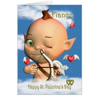 Noivo feliz do cartão do dia dos namorados do St.