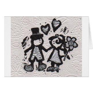 Noivos 3 cartão