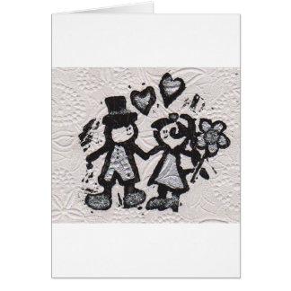 Noivos 3 cartão comemorativo
