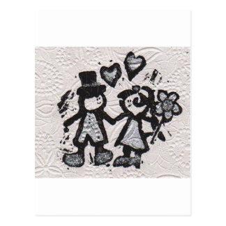 Noivos 3 cartão postal