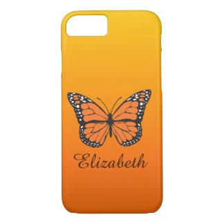 Nome alaranjado do costume da borboleta de monarca capa iPhone 8/ 7