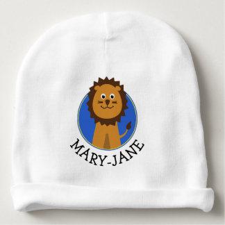 Nome bonito do costume do leão gorro para bebê
