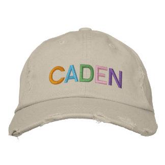 Nome bordado colorido de CADEN no chapéu Boné Bordado