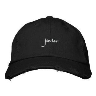 Nome bordado de Javier do chapéu Boné Bordado