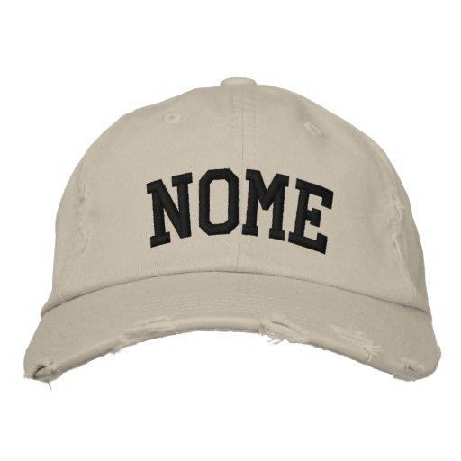 Nome bordou o chapéu bone