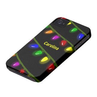 Nome colorido lunático do costume das luzes de capa para iPhone 4 Case-Mate