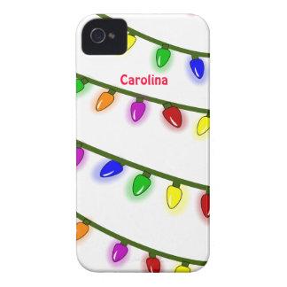 Nome colorido lunático do costume das luzes de capinhas iPhone 4